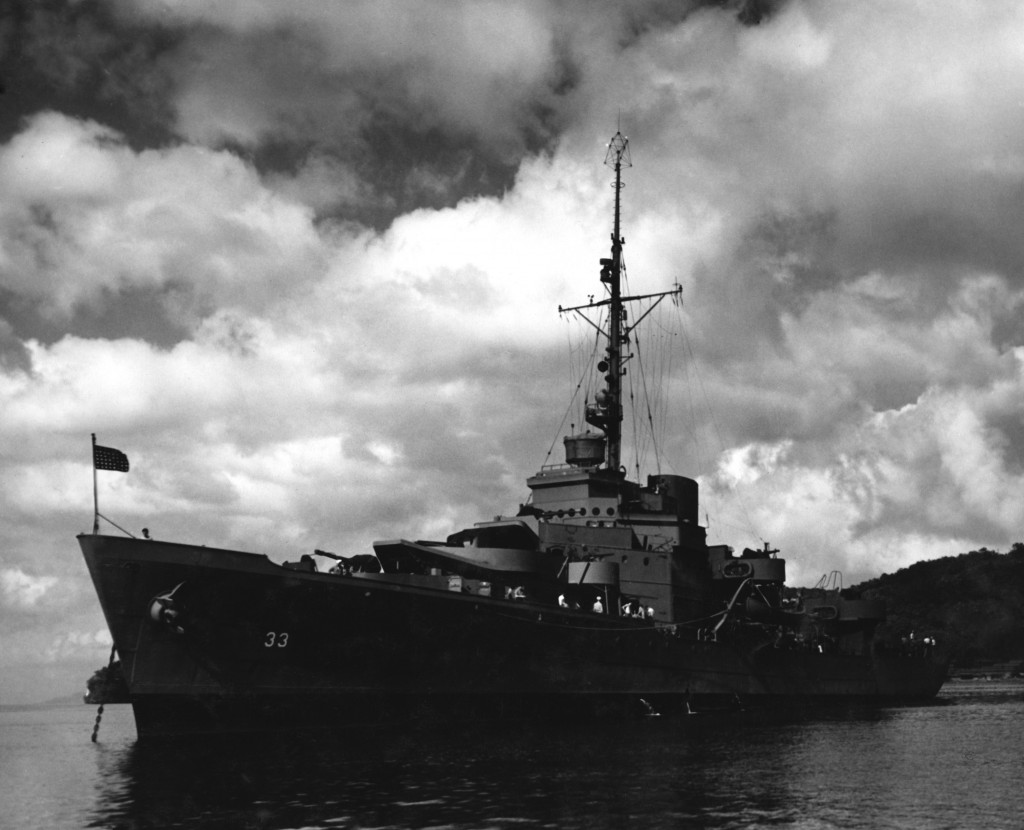 December 1943 - The USS Duane at Port in Trinidad