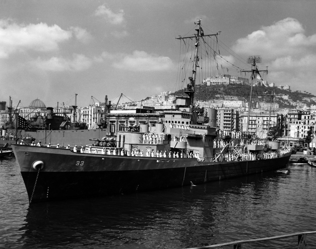 August 1944 - USS Duane at Port in Naples, Italy