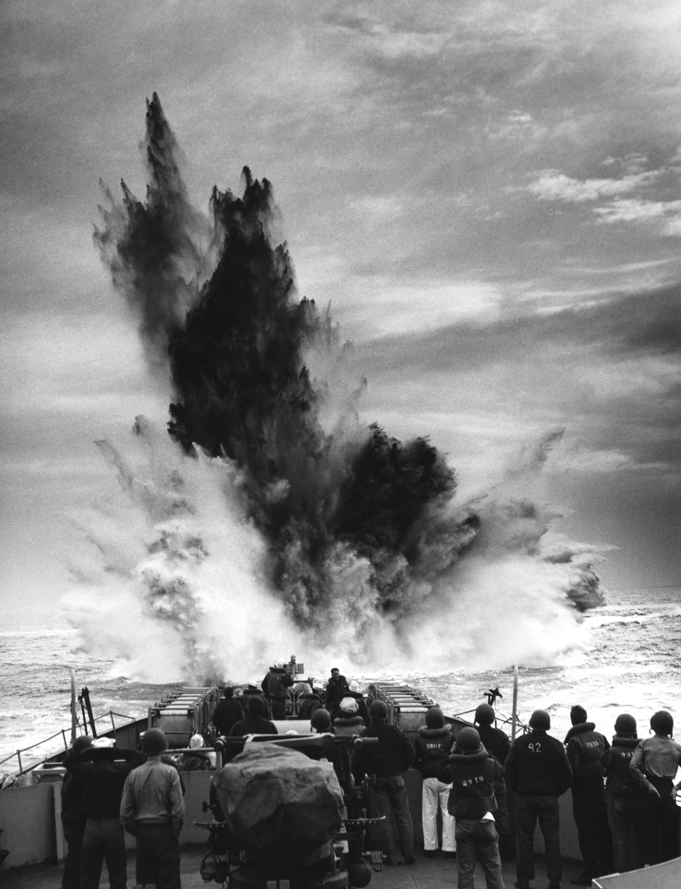 April 1943 - Depth charges dropped on U-Boat North Atlantic