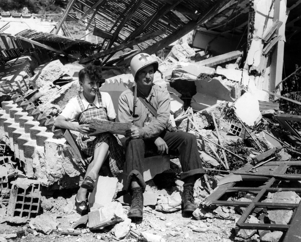 August 1944 - John Baker and French Woman in Southern France