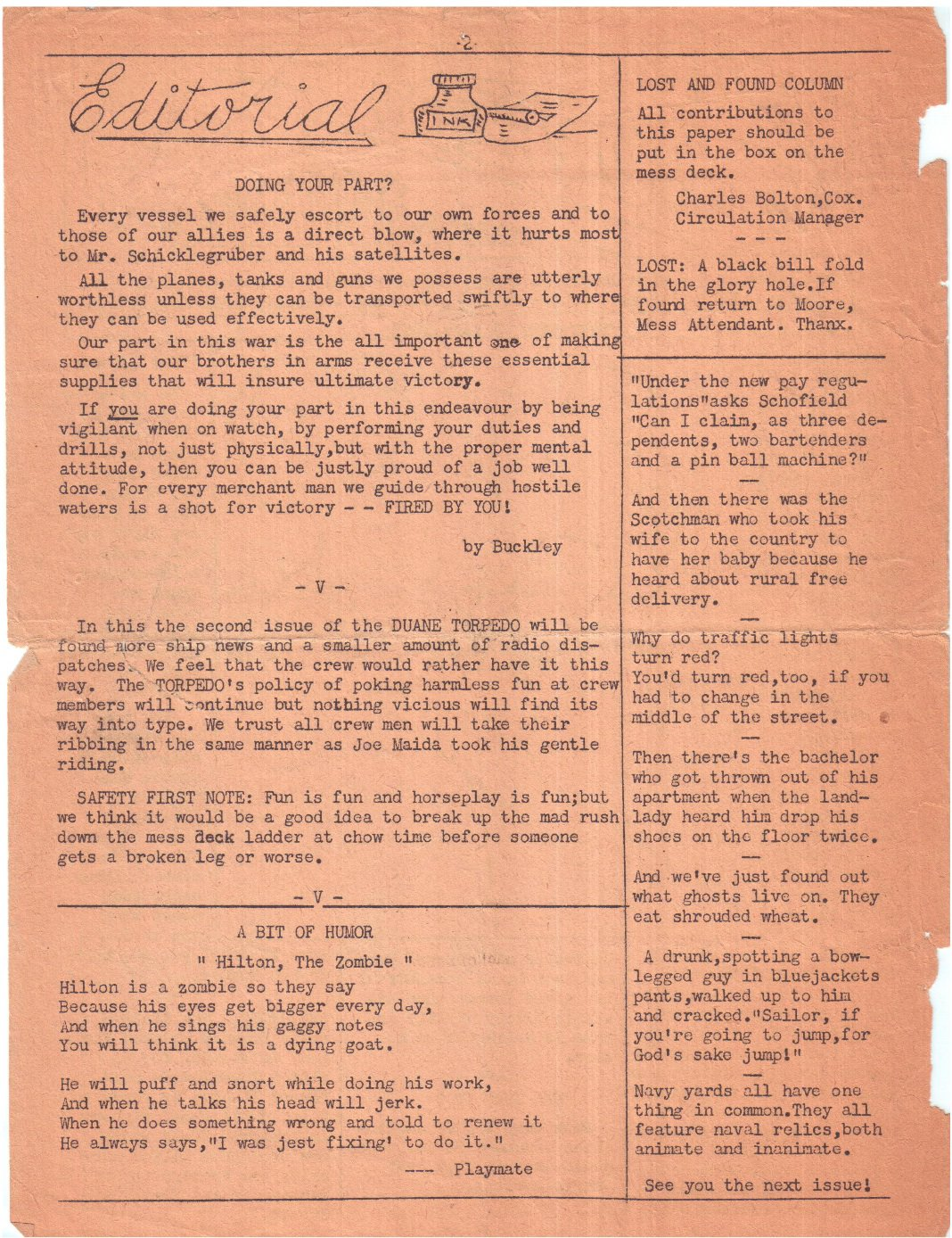 The Duane Torpedo - June 16, 1943 Page 2