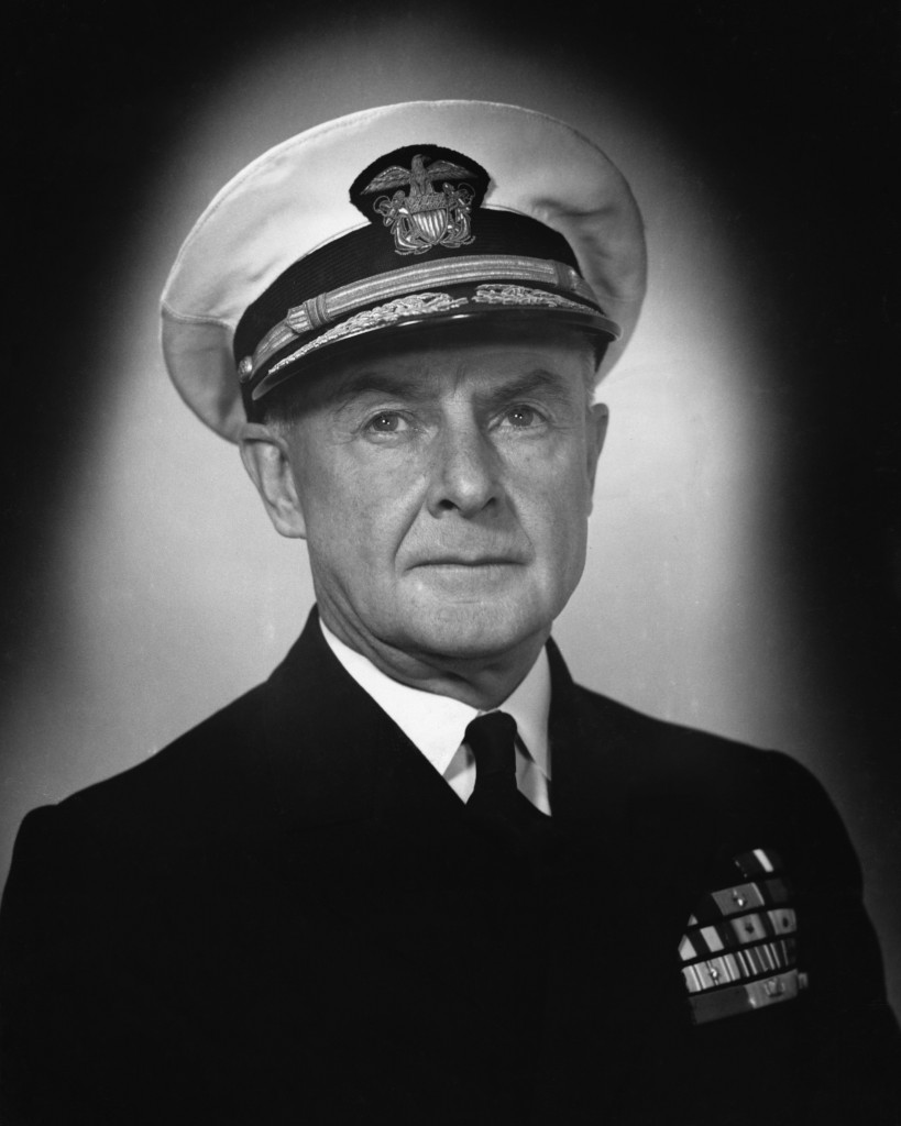 Admiral Frank J. Lowry of 8th Fleet WWII