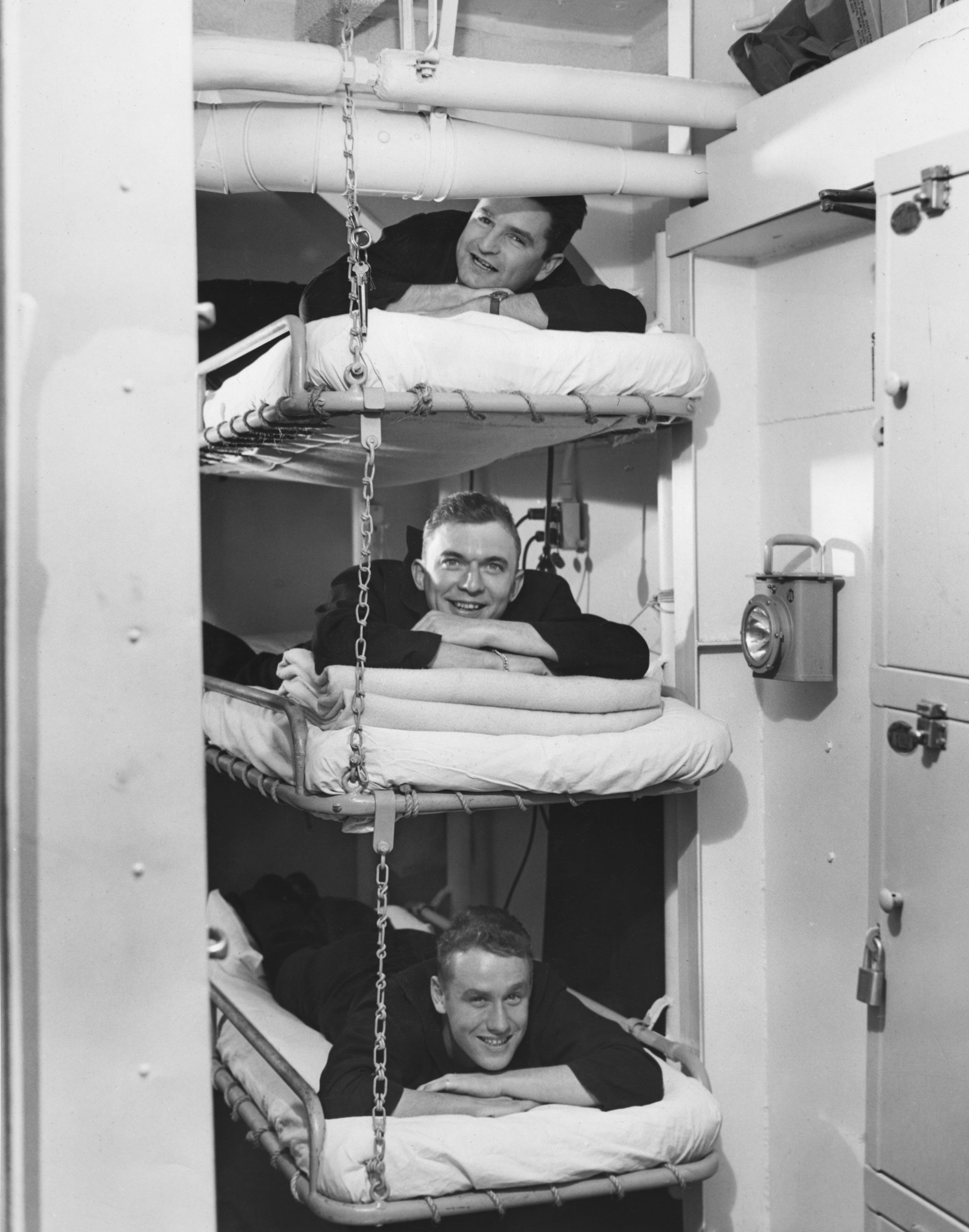 "1945 - ""Sack Time"" for Baker, Rooks and Schaefer aboard the USS Duane"